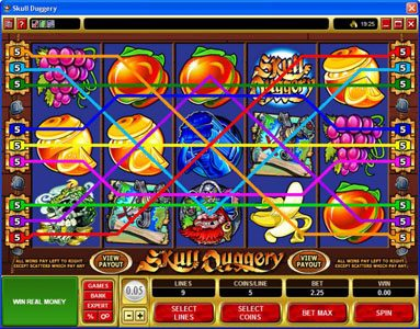 ZigZag777 featuring the Video Slots Skull Duggery with a maximum payout of $60,000