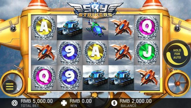Play 24 Bet featuring the Video Slots Sky Strikers with a maximum payout of $5,000,000