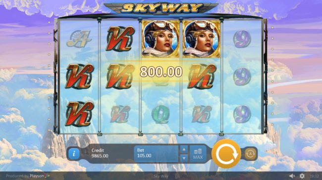 Lord of the Spins featuring the Video Slots Sky Way with a maximum payout of $21,000