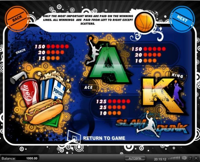 Play slots at Vbet Casino: Vbet Casino featuring the Video Slots Slam Dunk with a maximum payout of $45,000