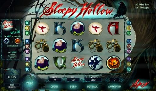 Sleepy Hollow Slot Machine