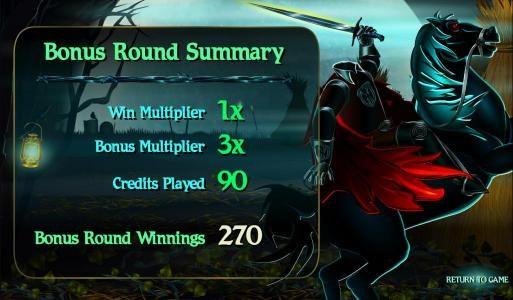 bonus round summary