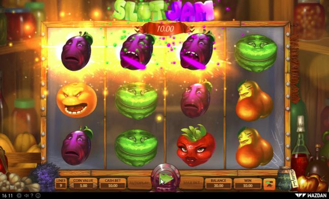 Montecryptos featuring the Video Slots Slot Jam with a maximum payout of $22,500