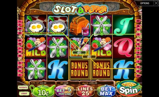 Play slots at Mongoose Casino: Mongoose Casino featuring the Video Slots Slot & Pepper with a maximum payout of $125,000