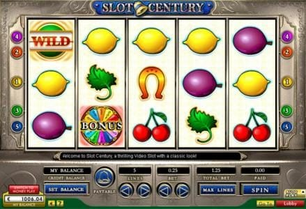 Play slots at Gala: Gala featuring the Video Slots Slot Century with a maximum payout of $200,000