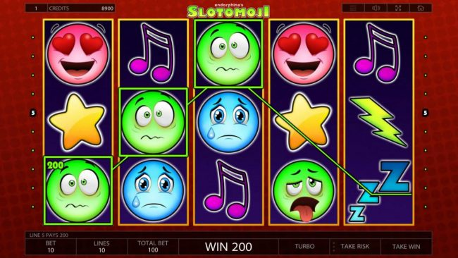 Joker Casino featuring the Video Slots Slotomoji with a maximum payout of $100,000