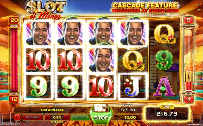 Magik Slots featuring the Video Slots Slot of Money with a maximum payout of $5,000