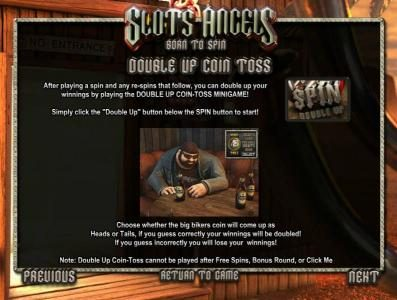 Slots Angels :: double up coin toss feature rules