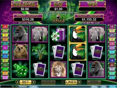 Play slots at Wild Joker: Wild Joker featuring the Video Slots Slots Jungle with a maximum payout of $250,000