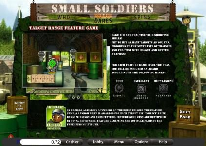 Treasure Mile featuring the Video Slots Small Soldiers with a maximum payout of 30,000x