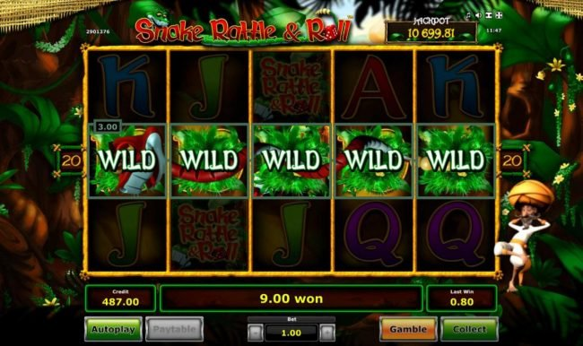 Expanded wild triggers multiplie winning paylines