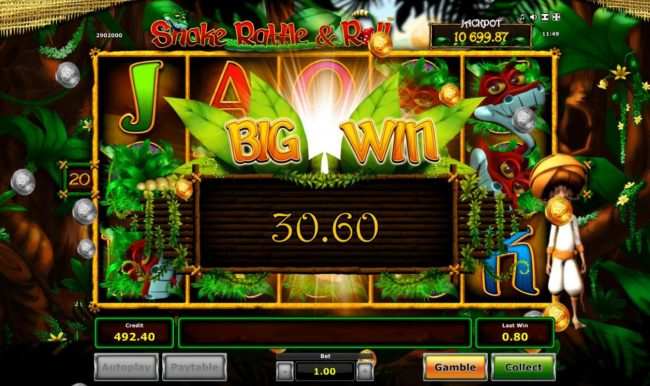 AC Casino featuring the Video Slots Snake Rattle & Roll with a maximum payout of $40,000