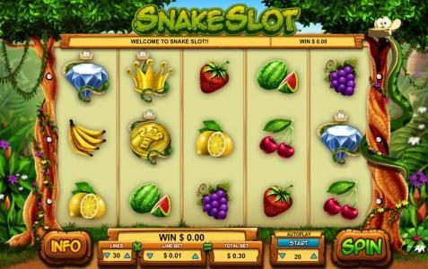 Play slots at Amsterdam Casino: Amsterdam Casino featuring the Video Slots Snake Slot with a maximum payout of $40,000