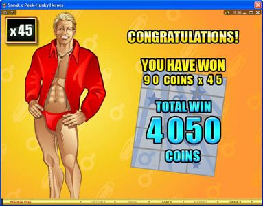 Golden Riviera featuring the Video Slots Sneak a Peek-Hunky Heroes with a maximum payout of $13,500