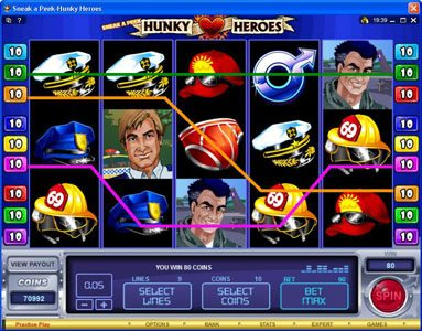 Wild Jack featuring the Video Slots Sneak a Peek-Hunky Heroes with a maximum payout of $13,500