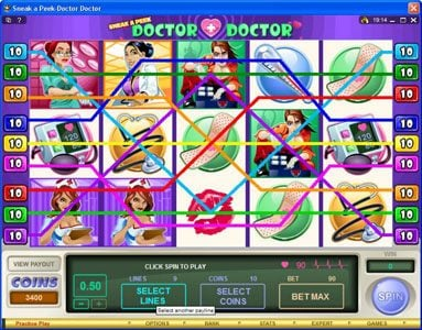 Kerching featuring the Video Slots Sneek a Peek-Doctor Doctor with a maximum payout of $13,500
