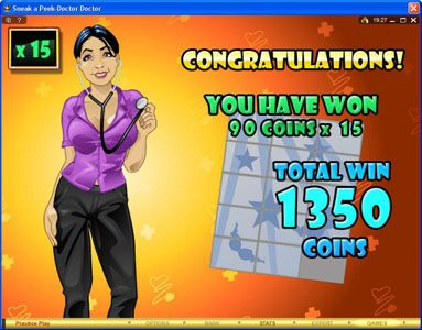 First Web featuring the Video Slots Sneek a Peek-Doctor Doctor with a maximum payout of $13,500