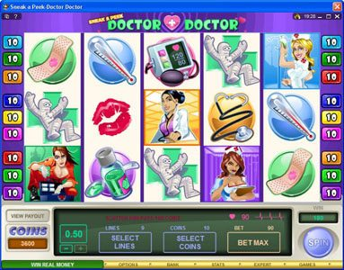 Vegas Country featuring the Video Slots Sneek a Peek-Doctor Doctor with a maximum payout of $13,500