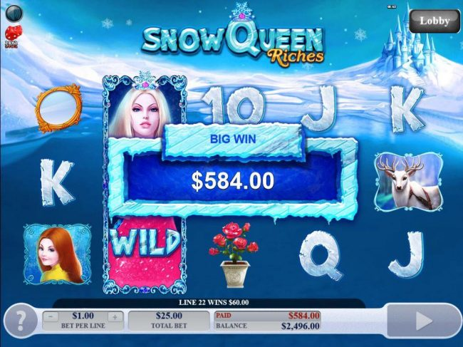 Play slots at Amsterdam Casino: Amsterdam Casino featuring the Video Slots Snow Queen Riches with a maximum payout of $20,000
