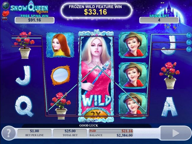 Norskespill featuring the Video Slots Snow Queen Riches with a maximum payout of $20,000