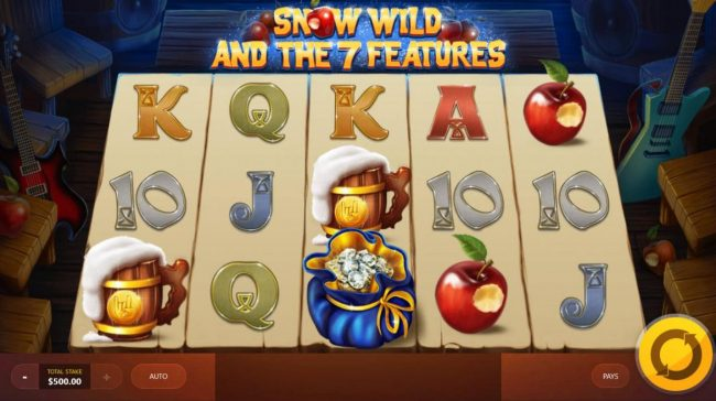 Clover Casino featuring the Video Slots Snow Wild and the 7 Features with a maximum payout of $250,000