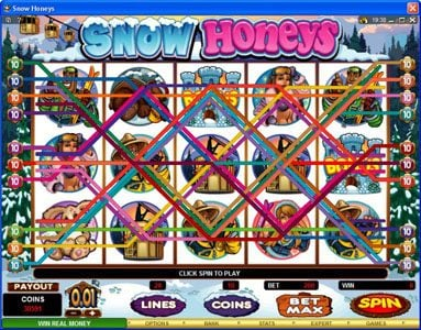 Slot Planet featuring the Video Slots Snow Honeys with a maximum payout of $20,000