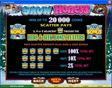 Blackjack Ballroom featuring the Video Slots Snow Honeys with a maximum payout of $20,000