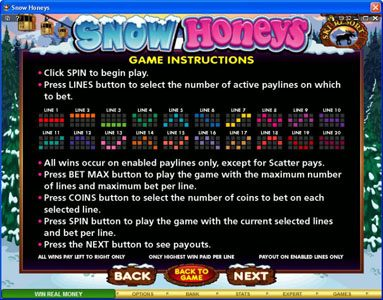 Dublinbet featuring the Video Slots Snow Honeys with a maximum payout of $20,000