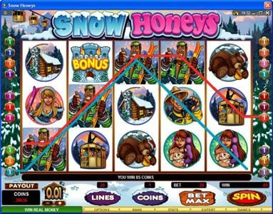 Thrills featuring the Video Slots Snow Honeys with a maximum payout of $20,000