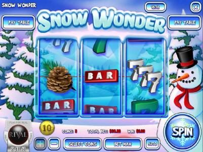 Play slots at Golden Lady: Golden Lady featuring the Video Slots Snow Wonder with a maximum payout of $75,000