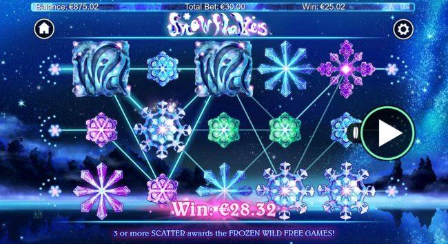 Snowflakes :: Multiple winning paylines