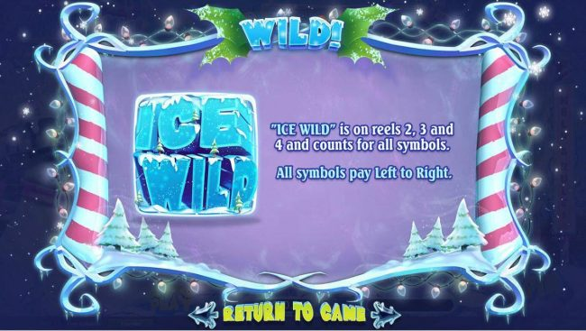 Ise Wild is on reels 2, 3 and 4 and counts for all symbols, All symbols pay left to right.