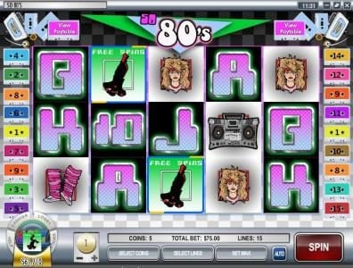 Play slots at Vegas2Web: Vegas2Web featuring the video-Slots So 80's with a maximum payout of $12,500