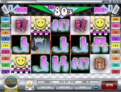 Pantasia featuring the video-Slots So 80's with a maximum payout of $12,500