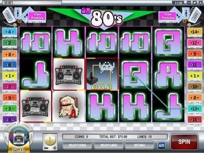 Casino Royal Club featuring the video-Slots So 80's with a maximum payout of $12,500