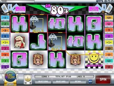 Crazy Luck featuring the video-Slots So 80's with a maximum payout of $12,500