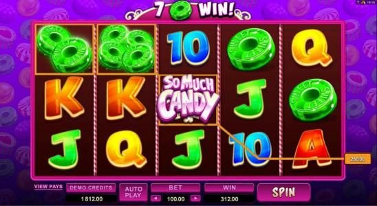 Jetbull featuring the Video Slots So Much Candy with a maximum payout of $56,000
