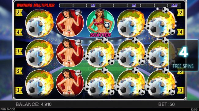 Play slots at Superior: Superior featuring the Video Slots Soccer Babes with a maximum payout of $4,000