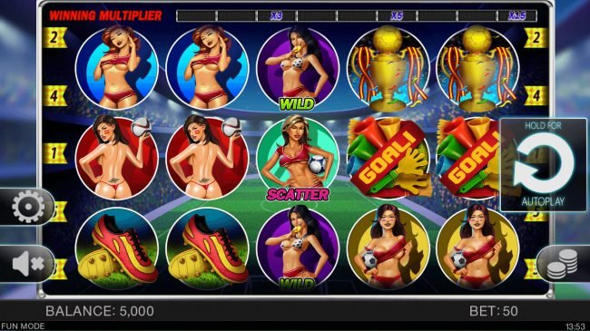 Play slots at Ducky Luck: Ducky Luck featuring the Video Slots Soccer Babes with a maximum payout of $4,000