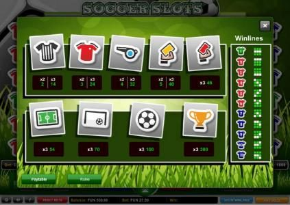 Enzo Casino featuring the Video Slots Soccer Slots with a maximum payout of $500