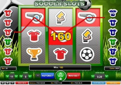 Spin Prive featuring the Video Slots Soccer Slots with a maximum payout of $500