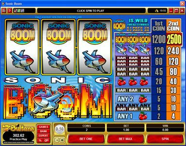 Play slots at Casino Kingdom: Casino Kingdom featuring the Video Slots Sonic Boom with a maximum payout of $25,000