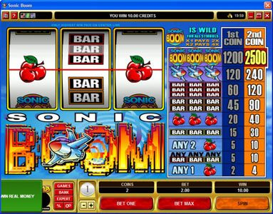 Rizk featuring the Video Slots Sonic Boom with a maximum payout of $25,000