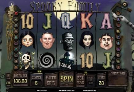 Play slots at Oshi: Oshi featuring the Video Slots Spooky Family with a maximum payout of $250.000