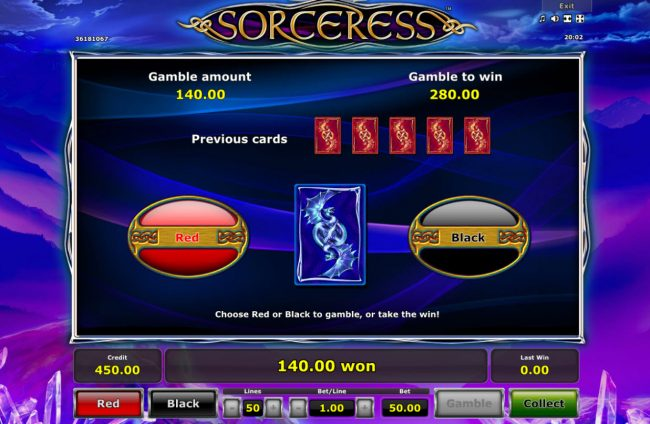 AC Casino featuring the Video Slots Sorceress with a maximum payout of $25,000