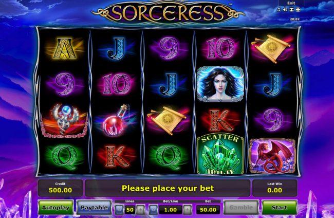 Sorceress :: Main Game Board