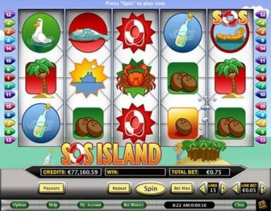 Play slots at Celtic: Celtic featuring the Video Slots SOS Island with a maximum payout of $7,500