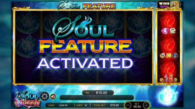 Play slots at Casinia: Casinia featuring the Video Slots Soul Queen Quad Shot with a maximum payout of $300,000