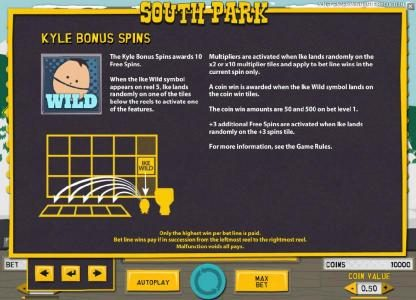 Betchan featuring the Video Slots South Park with a maximum payout of $750