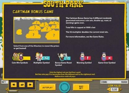 Guru Play featuring the Video Slots South Park with a maximum payout of $750